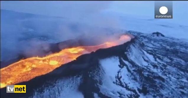 Bardarbunga lav saçmaya devam ediyor