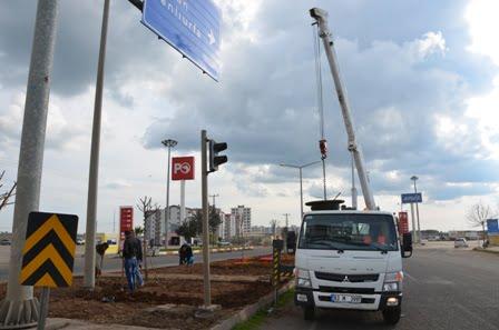 Siverek Belediyesi aydınlatma çalışması