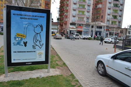 Siverek Belediyesinden yere tükürmeyin kampanyası