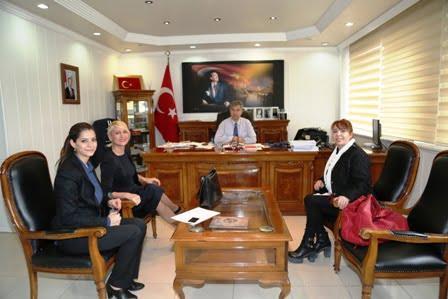 Türk Amerika iş kadınları derneğinden  Kaymakam Erkal'a ziyaret