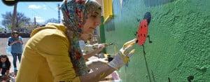 Siverek'te Öğretmenler 6 Okul Boyadı