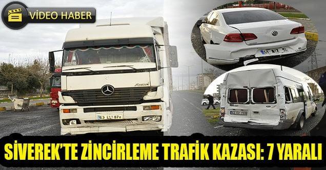 Siverek'te Zincirleme Trafik Kazası: 7 Yaralı