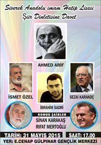 Ahmed Arif Anısına Şiir Dinletisi Düzenleniyor