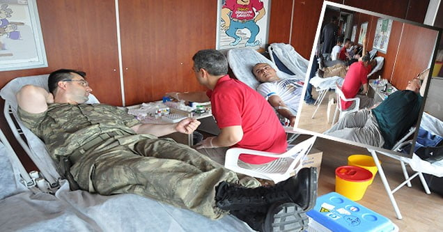 Kızılay Kan Bağışı Aracı Siverek'te