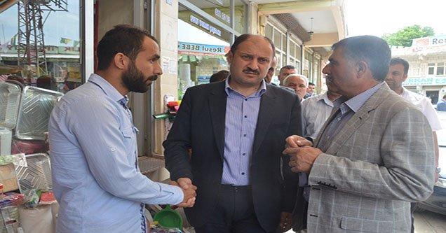 Milletvekili Gülpınar Hilvan Esnafını Ziyaret Etti