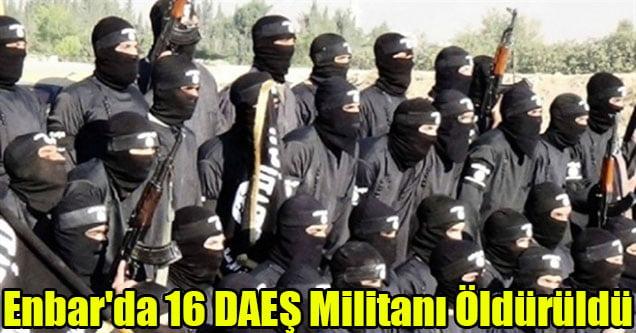 Enbar'da 16 DAEŞ militanı öldürüldü