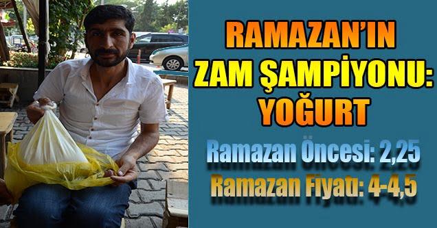 Ramazan'ın Zam Şampiyonu: Yoğurt