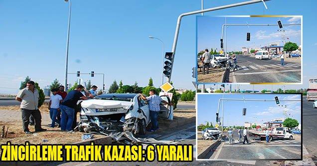 Siverek – Hilvan Yolunda Zincirleme Trafik Kazası: 6 Yaralı
