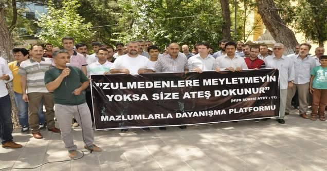 Siverek'te 13 STK'dan Kobani Protestosu