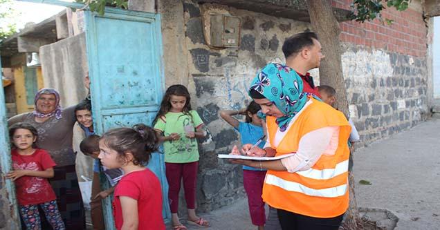 Siverek'te İhtiyaç Sahibi Ailelere Yardım Dağıtılıyor