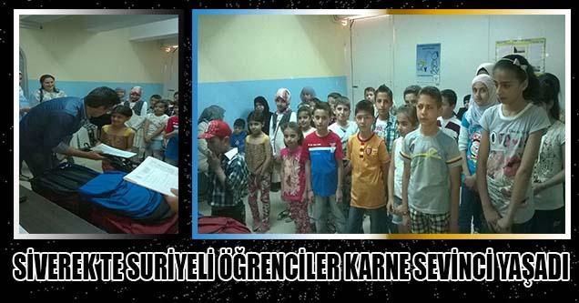 Siverek'teki Suriyeli Öğrencilerin Karne Sevinci