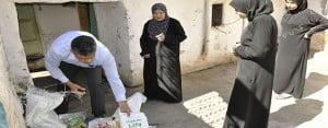 Kaymakamlıktan Suriyeli ailelere gıda yardımı