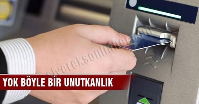 Çektiği parayı ATM'de unuttu