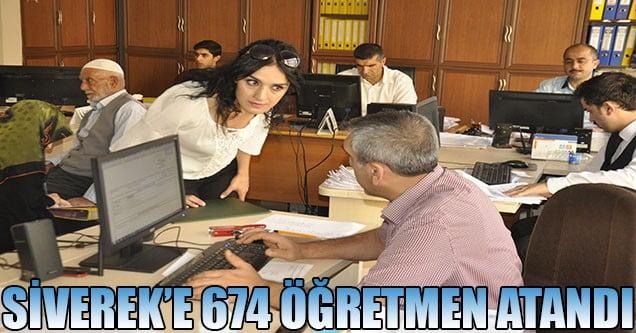 Siverek'e 674 öğretmen atandı