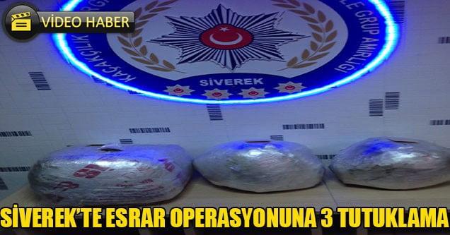 Siverek'te esrar operasyonu: 3 tutuklama