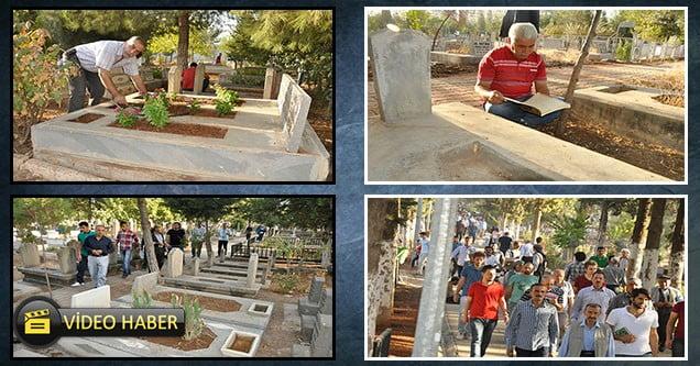 Siverekli vatandaşlar mezarlıklara akın etti
