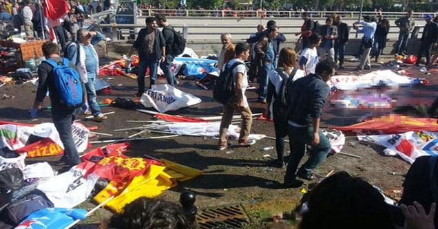Ankara'da tren garına giden köprü altında patlama!