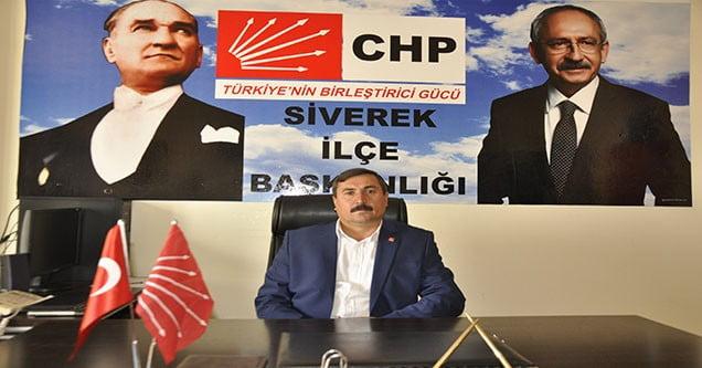 CHP Siverek İlçe Başkanından Basın Açıklaması