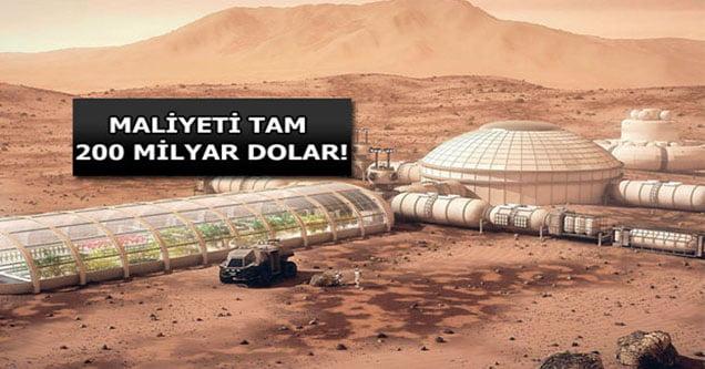 Dönüşü olmayan Mars projesinin bedeli 200 milyar dolar