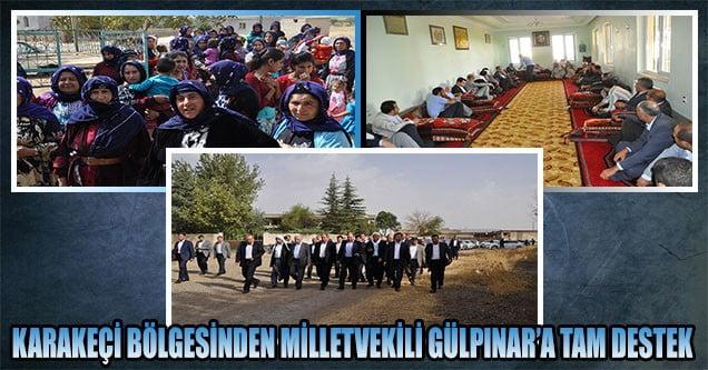 Karakeçi bölgesinden Gülpınar'a tam destek