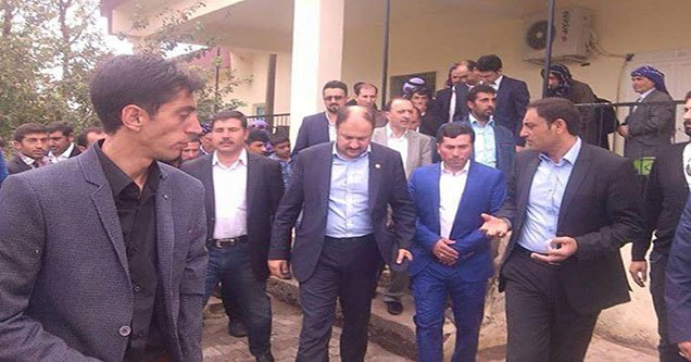 Milletvekili Mehmet Kasım Gülpınar'a coşkulu karşılama