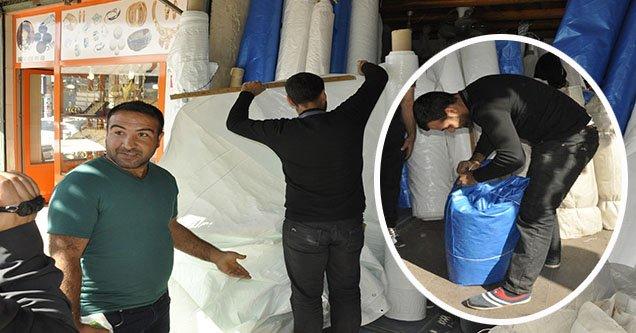 Naylon ve çadır branda satışında artış