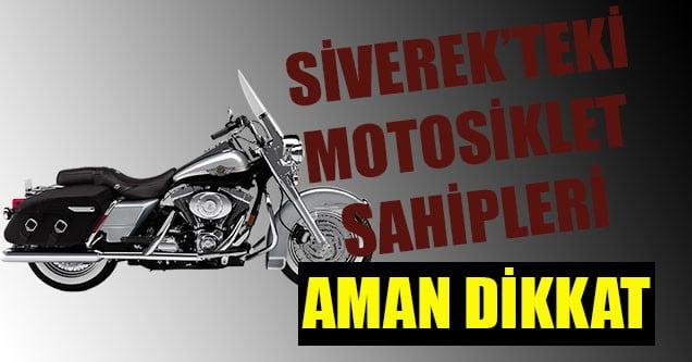Siverek'te hafta sonu 6 motosiklet çalındı!