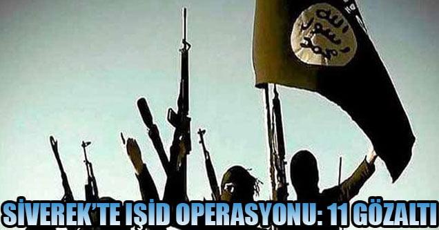 Siverek'te IŞİD operasyonu: 11 gözaltı