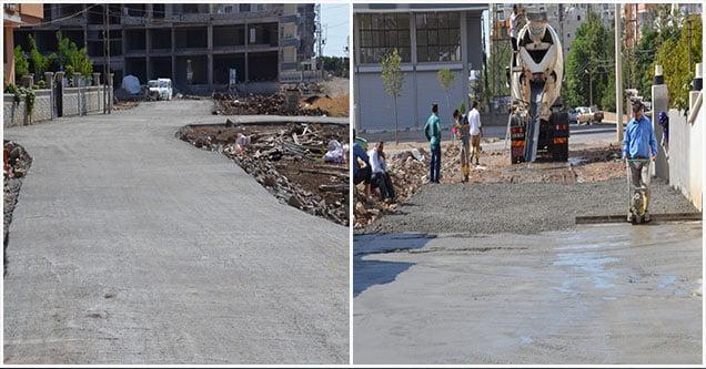 Yeni yerleşim alanlarının yolları betonlanıyor