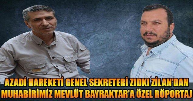 Azadi Genel Sekreteri Sıdkı Zilan ile özel röportaj