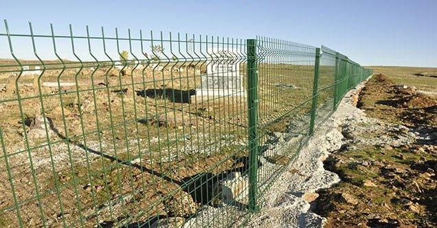Eskihan mezarlığı panel çit çalışması