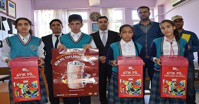 Siverek'te Atık Pil Toplama Yarışması açıldı
