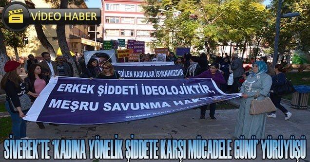 Siverek'te kadınlar şiddete karşı yürüdü