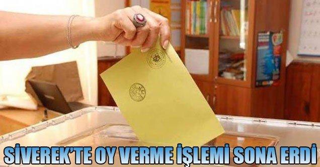 Siverek'te oy verme işlemi sona erdi