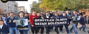 Siverek'te şehit polis için yürüyüş düzenlendi