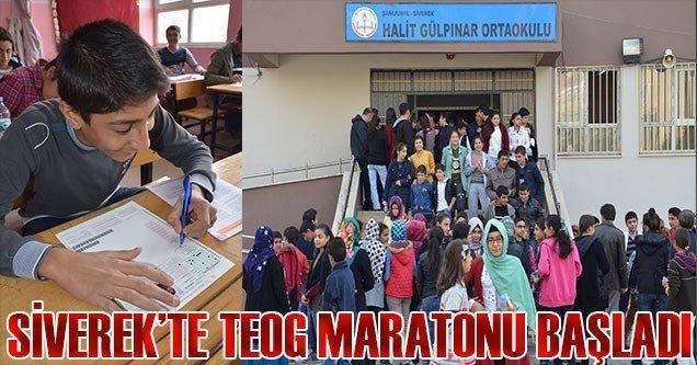 Siverek'te TEOG maratonu başladı