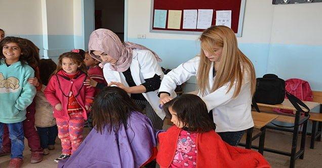Siverek Belediyesinden kız öğrencilere ücretsiz saç bakımı