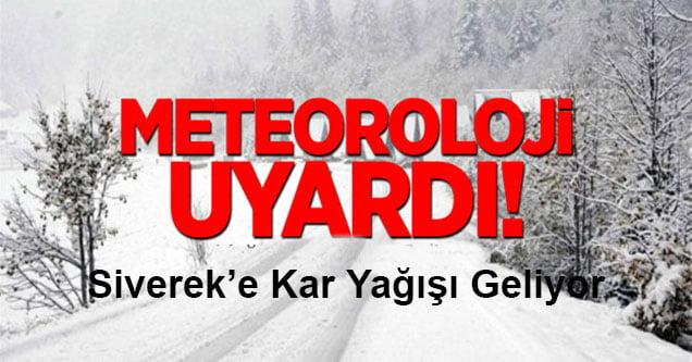 Meteoroloji Uyardı: Siverek'e Kar Geliyor!