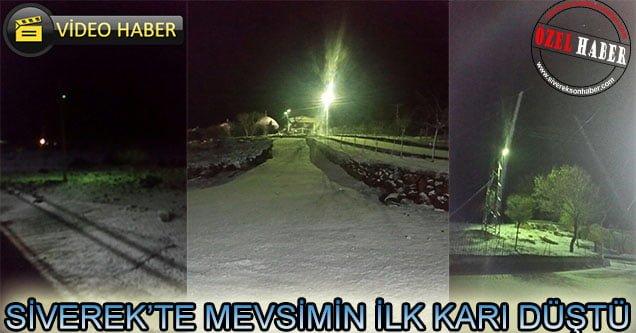 Siverek'te mevsimin ilk karı düştü