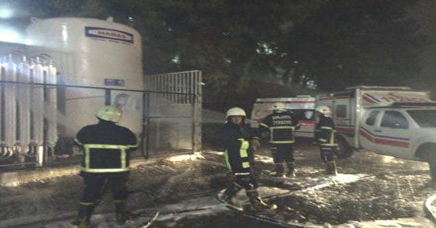 Şanlıurfa'da Hastanenin Oksijen Deposunda Yangın