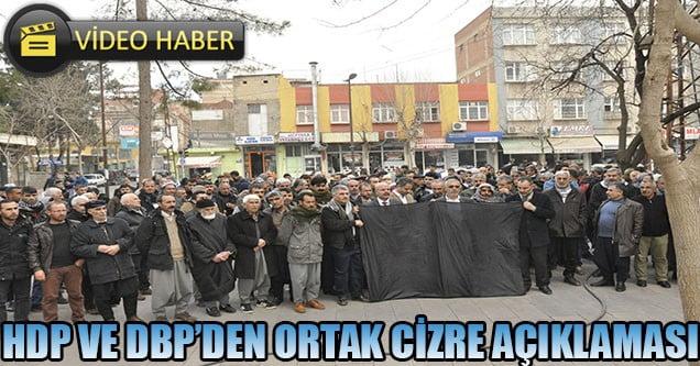HDP ve DBP'den Ortak Basın Açıklaması
