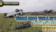 Siverek'te Trafik Kazası: 3 Ölü 8 Yaralı