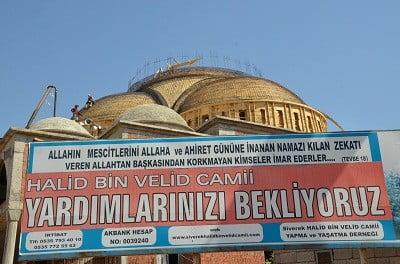 Vatandaşların yardımlarıyla yapılan Halit Bin Velit Camisi yardım bekliyor