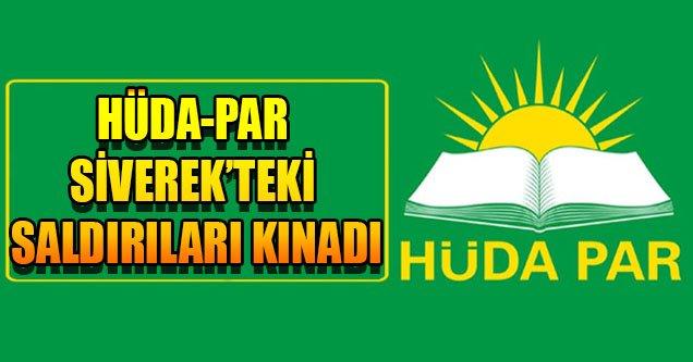 Hüda-Par Siverek'teki Saldırıları Kınadı