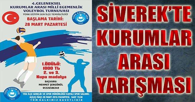 Siverek'te Kurumlar Arası Voleybol Turnuvası
