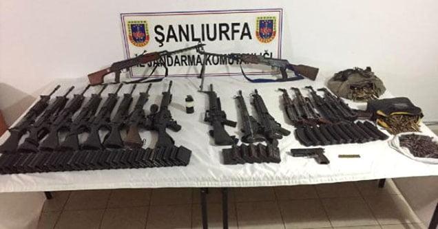 Siverek'te 17 Tüfek Ele Geçirildi