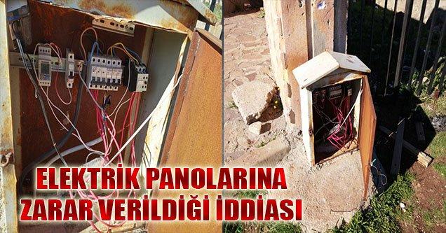 Elektrik Panolarına Zarar Verildiği İddiası