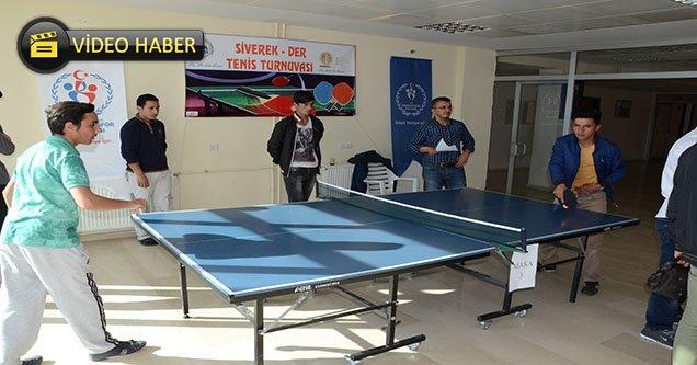 Siverek'te Tenis Turnuvası
