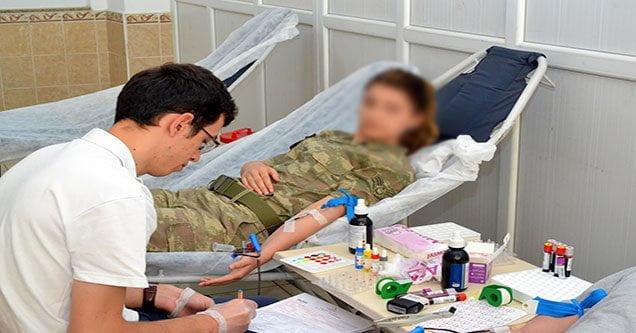 Şanlıurfa'da Jandarmadan Kan Bağışı