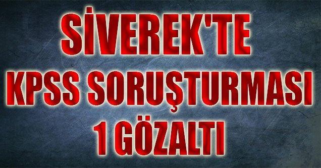 Siverek'te KPSS Soruşturması